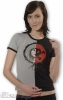 TSHIRT - Nightmare: Stiched Grey Black